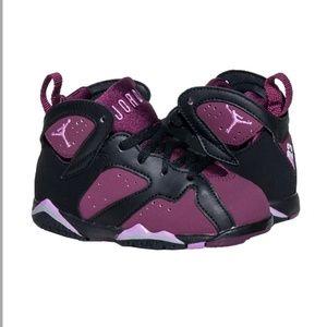 Jordan's purple kids sneakers